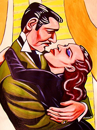 GONE WITH THE WIND PRINT POSTER mans birthday gift Civil War history movie dvd clark gable blu-ray disc janet leigh art