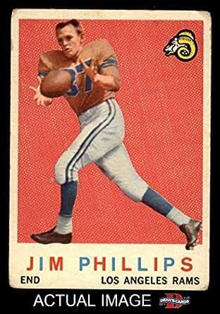 Amazon.com: 1959 Topps # 142 Jim Phillips Los Angeles Rams