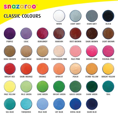 Snazaroo Face Paint 18ml Individual Color White Import It All