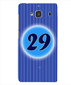 ColourCraft Numerology Number 29 Back Case Cover for XIAOMI REDMI 2S