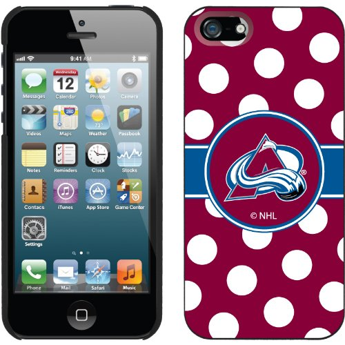 Great Sale Colorado Avalanche« - Polka Dots design on a Black iPhone 5s / 5 Thinshield Snap-On Case by Coveroo