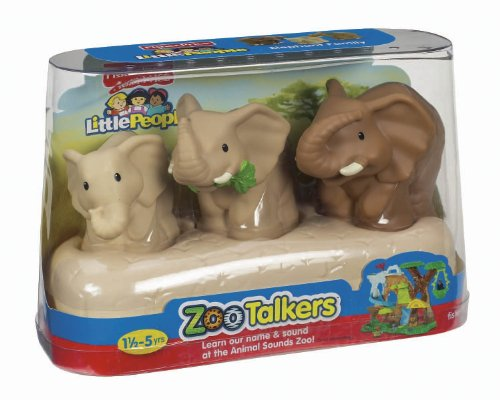 Fisher-Price Little People Zoo Talkers Elephant Family Pack