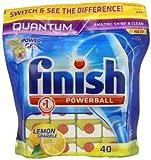 Finish Quantum Lemon Sparkle 2 x Pack of 40 (80 Dishwasher Tablets)
