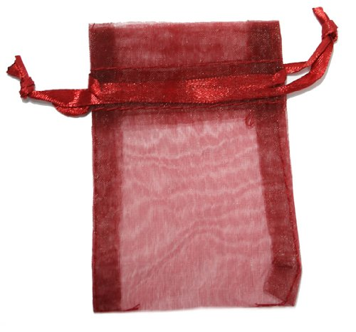 Red Sheer Organza Bags - 4in. x 6in. - 20/Pack