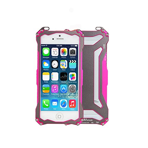 Moon Monkey Premium Ornate Armor Outdoor Sport Phone Protective Device Hard Case For Iphone 5 5S (Mm424) (Rose)