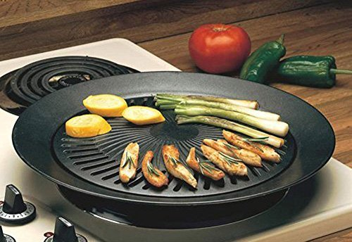 Smokeless Indoor Stove Top Grill - Healthy Kitchen Stovetop Indoor Grill by Imperial Home (Allclad Panini Press compare prices)