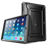 SUPCASE Beetle Defense Series for Apple iPad Air Full-body Hybrid Protective Case with Built-in Screen Protector (Black/Black) - Dual Layer Design and Impact Resistant Bumper (Fit iPad 5th Generation)
