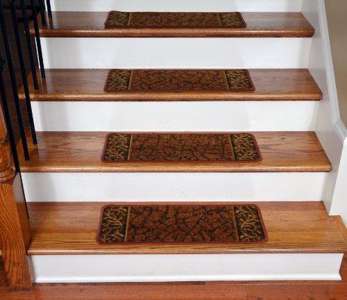 Dean Flooring Company Dean Washable Non Skid Carpet Stair Treads Garden Path Terra Cotta 13