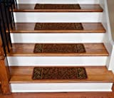 Dean Washable Non-Skid Carpet Stair Treads - Garden Path Terra Cotta (13)