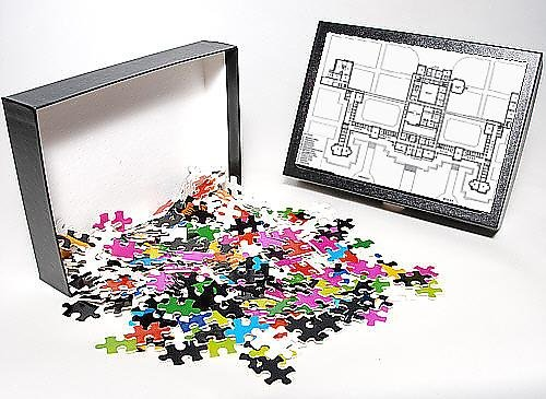 Photo Jigsaw Puzzle Of Ground Plan, Carmarthen County Lunatic Asylum, Wales