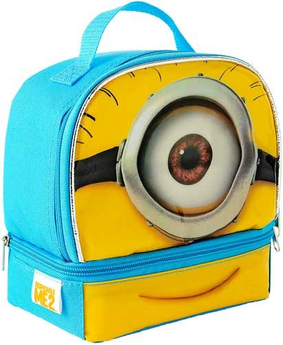 Despicable Me 2 Minion Stuart Dual Compartment Children's School Lunchbox