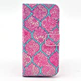 iphone 6 case,Nancy's Shop **New** Fashion [Kickstand Feature] Pattern Premium Pu Leather Wallet [Stand Feature] Type Magnet Design Flip Protective Credit Card Holder Pouch Skin Case Cover for Apple Iphone 6 4.7 Inch (NOT for iPhone 6 Plus)[Built-in Credit Card/id Card Slot]-(verizon, At&t, Sprint, T- mobile,international and Unlocked) (Flower Rose red pattern)