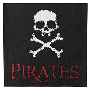 Click to buy Pirate Birthday Party Ideas: 16 Pirate Napkins from Amazon!