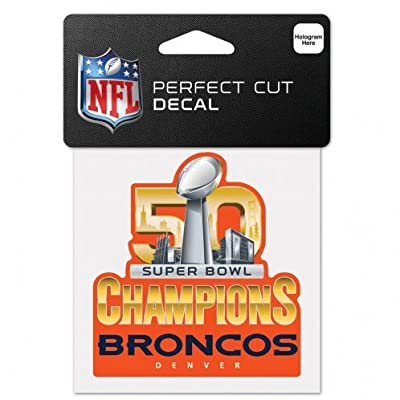 Denver Broncos 2016 Super Bowl 50 Champions 4 x 4 Perfect Cut Decal