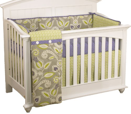 Cotton Tale Designs 4 Piece Crib Bedding Set, Periwinkle