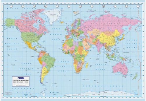World Map Color Educational Poster 18x12 (World Map Poster Small compare prices)