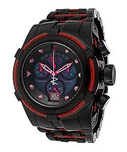 Invicta Men's 16001BWB Jason Taylor Analog Display Swiss Quartz Black Watch