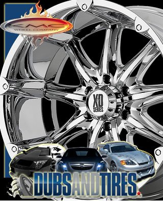 20 Inch 20x9 KMC XD SERIES wheels BADLANDS Chrome wheels rims