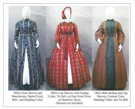 1840's - 1860's Ladies Wrapper, Work-Dress, Morning Gown or Maternity Dress Pattern (Old Dresses For Women compare prices)