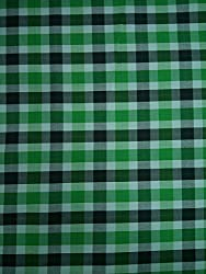 Indian Fabtex Mens Unstitched Green Checkered Exclusive Shirt Fabrics VTM-121-12