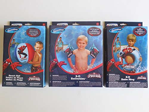 The Ultimate Spider-man (3-D) Swimmies, Swim Ring and Beach Ball