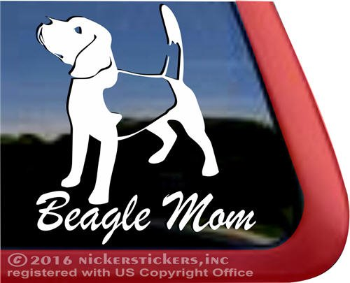 Beagle Mom Dog Vinyl Window Auto Decal Sticker