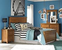 Hot Sale Lea Willow Run 4 Piece Panel Bedroom Set In Rich Toffee Brown