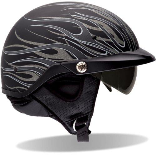 2013 Bell Pit Boss Motorcycle Helmet - Flames - Matte Black - X/2X-Large