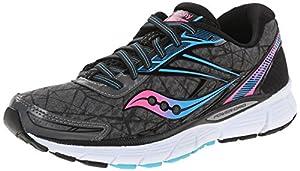 Saucony Women's Breakthru Running Shoe, Grey/Pink/Blue, 7.5 M US