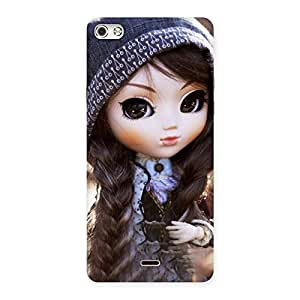 Stylish Cute Beautiful Doll Back Case Cover for Micromax Canvas Silver 5