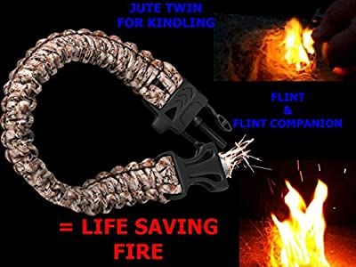 550 Paracord Emergency Bracelet - the Ready Wrist Is a Parachute Cord Bracelet That Is Great for Survival with an Attached Emergency Whistle, Knife Like Cutting Tool, and Flint All Backed By Our 100% Lifetime Guarantee from Holtzman's Gorilla Survival