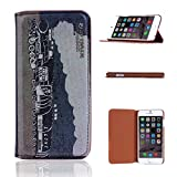 For iphone 6 (4.7 inch) , TUTUWEN Retro Steam Train Design [Crazy Horse] PU Leather Stand Flip Case Protective Cover For Apple iphone 6 (4.7 inch) / iphone Air