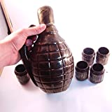 Decanter bottle like GRENADE for Vodka Whiskey Brandy Alcohol, military, flask