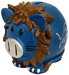 Detroit Lions Large Thematic Piggy Bank by Forever Collectibles