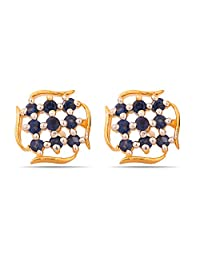 Voylla RadiantWith CZ Stones And Beads Stud Earring For Women