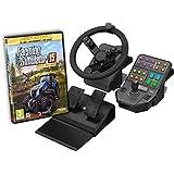 Volant Farming Simulator + pédalier + panneau de commandes + Farming Simulator 15 - édition gold pour PC