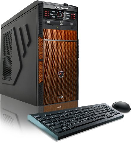 CybertronPC Hellion Gaming Desktop - AMD FX-6300 3.5GHz Hexa-Core, NVIDIA GT740 (2GB) Graphics, 16GB DDR3 Memory, 1TB HDD, WiFi, DVD±RW, LED Fan Control Panel, Microsoft Windows 10 Home 64-Bit