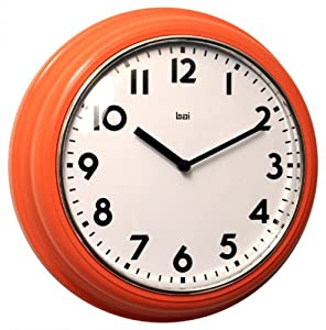 Bai School Wall Clock, Orange