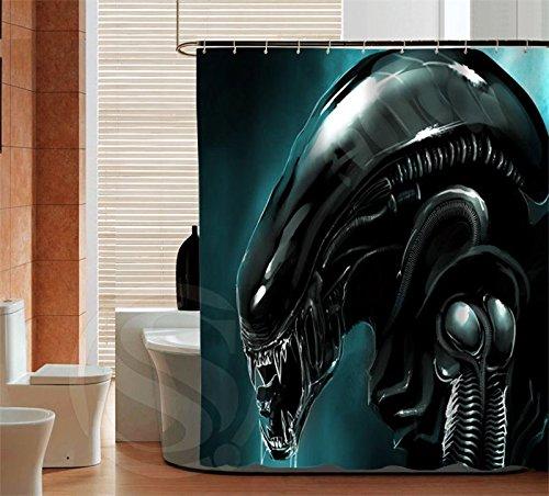 Blingyou Personality Alien Custom Shower Curtain Bathroom Decor Waterproof 66