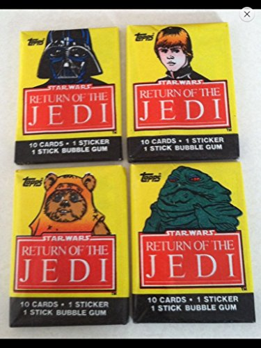 1983-Topps-Star-Wars-4-Unopened-Wax-Pack-1st-Series-Non-sport-Trading-Cards-Return-of-the-Jedi