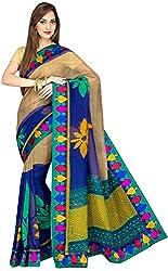 Evila Women's Raw Silk Saree (RSE-191, Multi)