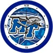 "Middle Tennessee State Blue Raiders (MTSU) Suntime 12"" Dimension Glass Crystal Wall Clock"