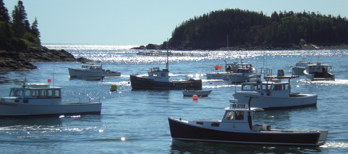Lobster fishing boats Cutler