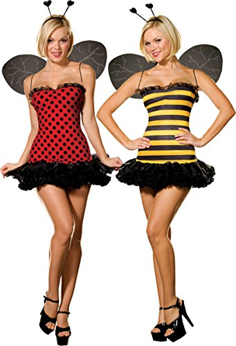 Buggin Out Reversible Ladybuy and Bee Adult Costume Size X-Small (XS)