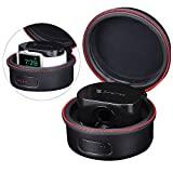 Smatree PU Leather SmaShell A100 Charging Case for Apple Watch Series 1 and 2, Black