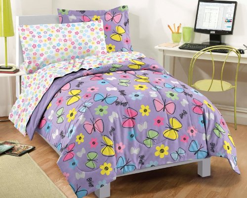 Why Choose Sweet Butterfly Ultra Soft Microfiber Comforter Bedding Set, Purple Multi