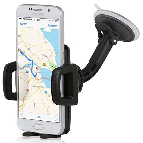 Wicked Chili Supporto da auto per telefoni cellulari e smartphone Xperia Z1 , Z , Nexus 5 , Huawei Ascend P6 , P2 , Mate , Samsung Galaxy Note 3 , 2 , Ativ S , S4 attivo , S4 , S3 , 6.3 Mega , Nexus , LG G2 , Optimus G Pro , HTC One , Apple iPhone 5 , 5S