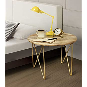 "Diwali Gifts Stylish Wooden Round Coffee End Table 24 x 20"" Long Bedside Cocktail Table Stool Multi Utility Home Patio Furniture Decor"