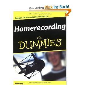 eBook Cover für  Homerecording f uuml r Dummies