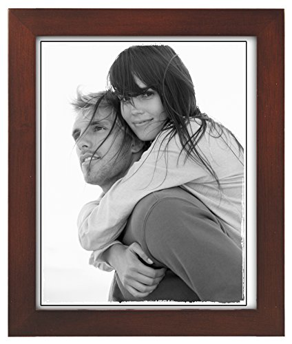 Malden International Designs Linear Classic Wood Picture Frame, Holds 8x10 Picture, Walnut (8x10 Wood Picture Frame compare prices)